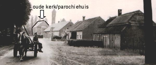 Zicht op oud parochiehuis begin jaren 50