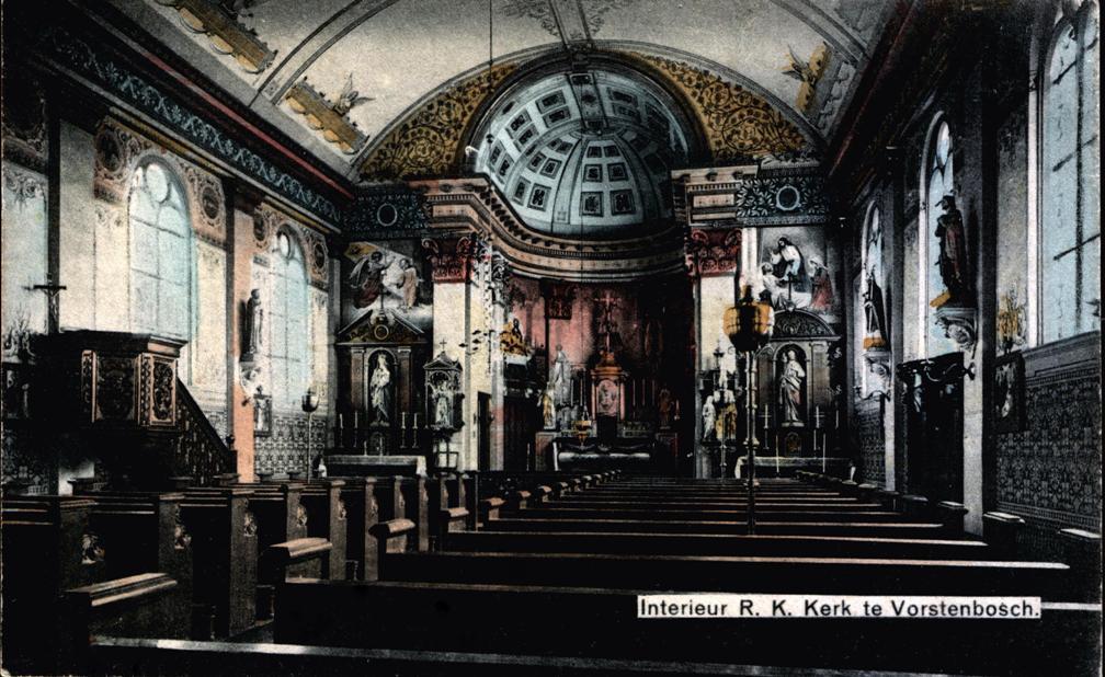 Interieur kerk ca 1900